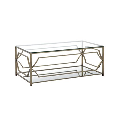 Cormac Rectangular 3 Piece Coffee Table Set Finish: Brushed Brass