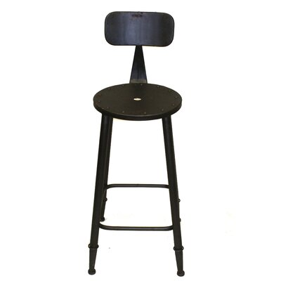Armand 28 Bar Stool Upholstery: Dark Gray