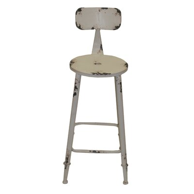 Armand 28 Bar Stool Upholstery: White