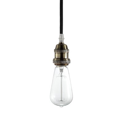 Delia 1-Light Mini Pendant Base Finish: Brass
