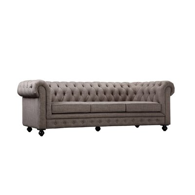 Dolores Chesterfield Sofa Upholstery: Brown
