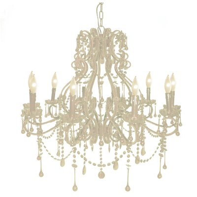 Isabella 10-Light Crystal Chandelier Color: White