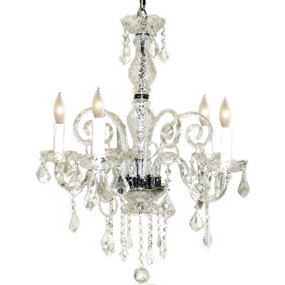 Krystal 5-Light Crystal Chandelier Color: Clear