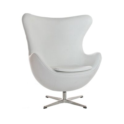 Mod Jonathan Lounge Chair Upholstery: White