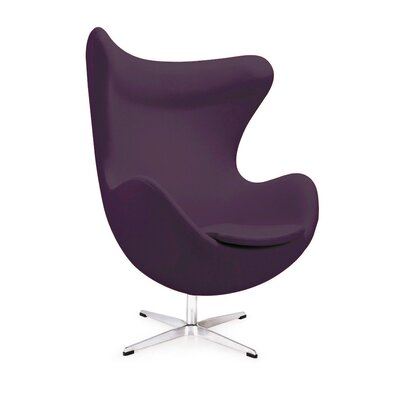 Mod Lounge Chair Upholstery: Purple
