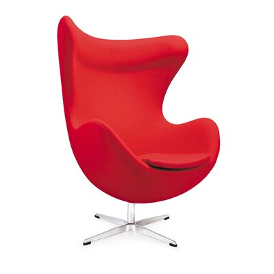 Mod Lounge Chair Upholstery: Red