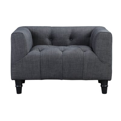 Oshea Armchair Color: Grey