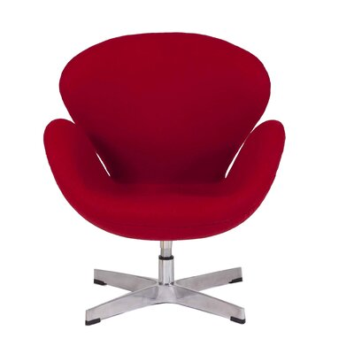 Star Lounge Chair Upholstery: Red