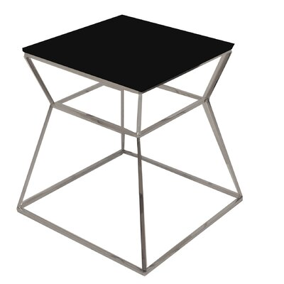 Prism End Table Color: Black