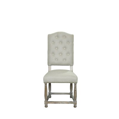 Leonard Side Chair Upholstery: Linen