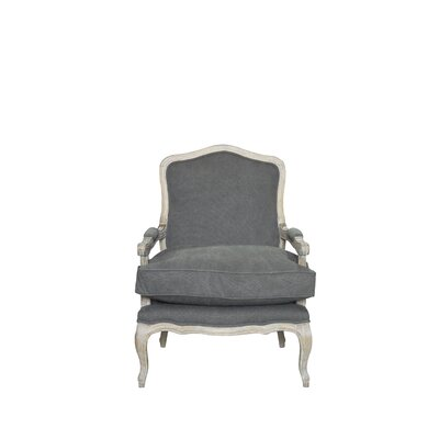 Bouille Solid Armchair and Ottoman Finish: Gray