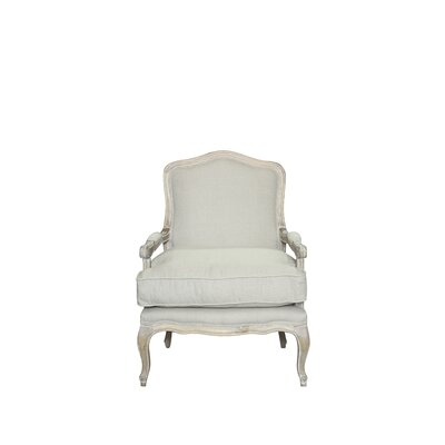 Bouille Solid Armchair and Ottoman Finish: Linen