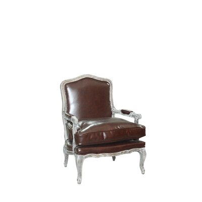 Bouille Traditional Armchair and Ottoman Finish: Whiskey