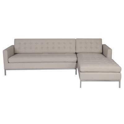 Peri Reversible Sectional Upholstery: Cream, Orientation: Right Hand Facing