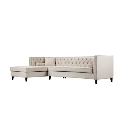 Isolde Sectional Orientation: Right Hand Facing, Upholstery: Beige