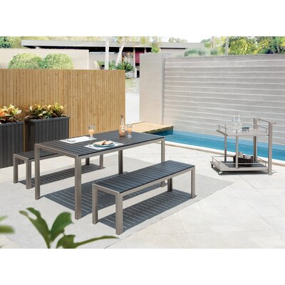Breeze 3 Piece Dining Set Finish: Gray
