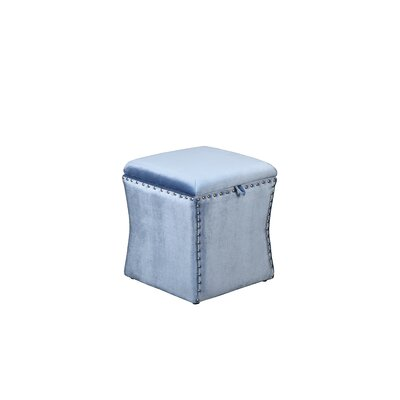 Sawiris Storage Ottoman Color: Powder Blue