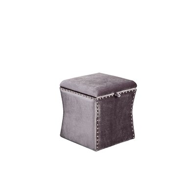 Sawiris Storage Ottoman Color: Sliver