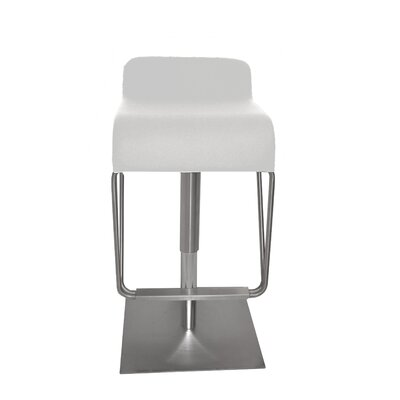 Century Bar Stool Upholstery Color: White