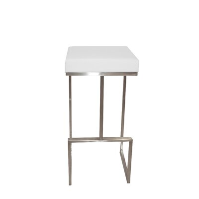 Gate 30 Bar Stool Upholstery Color: White
