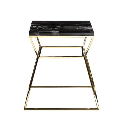 Geo End Table Finish: Black