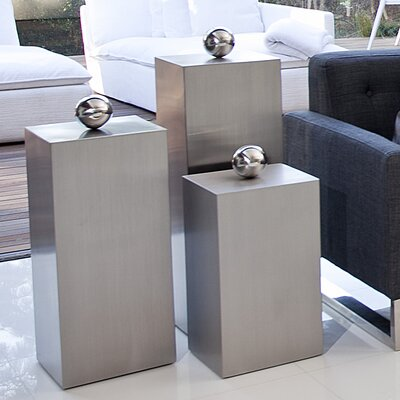 Ibiza 3 Piece Pedestal Set Finish: Brushed Metal