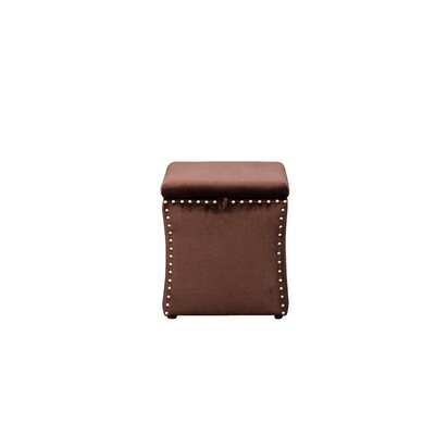 Sawiris Storage Ottoman Color: Brown Velvet