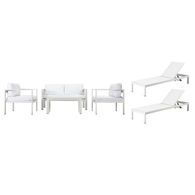 Hillwood 6 Piece Sofa Set with Cushions
