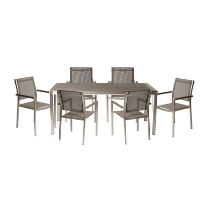 David 7 Piece Dining Set Finish: Gray