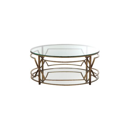 George Round Coffee Table Color: Brass