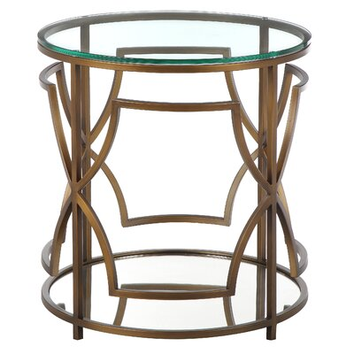 George Round End Table Color: Brushed Brass