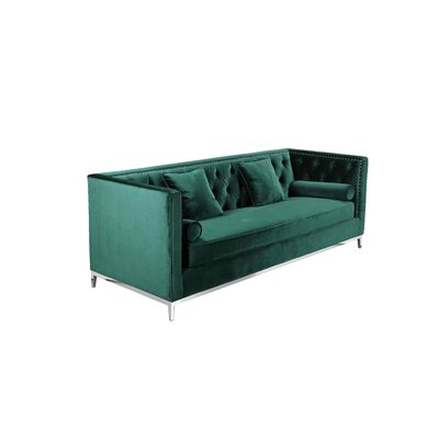 Messines Sofa Upholstery: Green