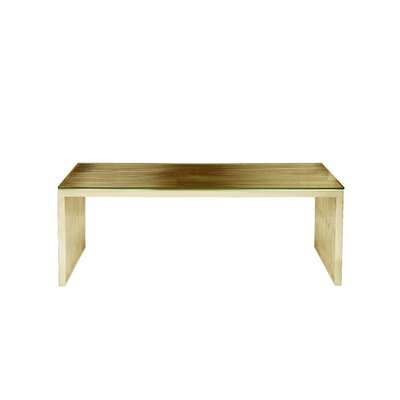 Hoang Rectangle Coffee Table Color: Gold