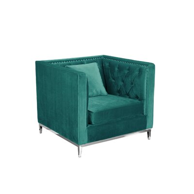 Messines Armchair Upholstery: Green