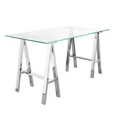 Daryll 55 Dining Table Color (Frame): Silver