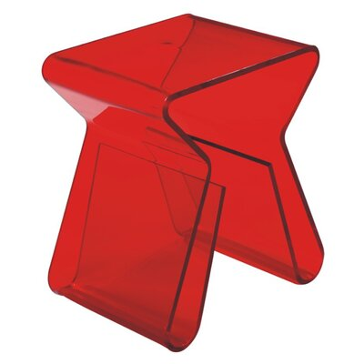 Klip End Table Color: Red