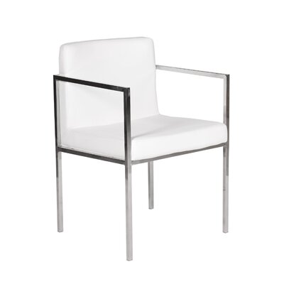 Glen Arm Chair Upholstery: White