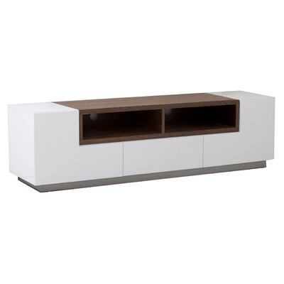 Rex 71 TV Stand Color: White and Walnut