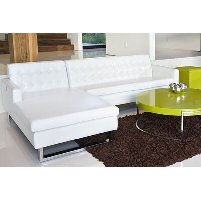 Landyn Sectional Upholstery: White Shiny, Orientation: Right Hand Facing