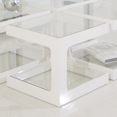 Miley End Table Finish: White