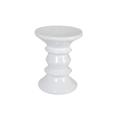 Lurline End Table Color: White