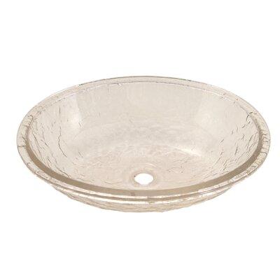 Glass Oval Undermount Bathroom Sink Sink Finish: Crystal