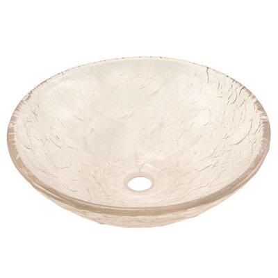 Circular Vessel Bathroom Sink Sink Finish: Crystal