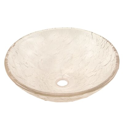 Circular Vessel Bathroom Sink Sink Finish: Crystal