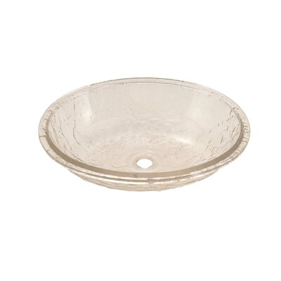 Glass Circular Undermount Bathroom Sink with Overflow Sink Finish: Crystal