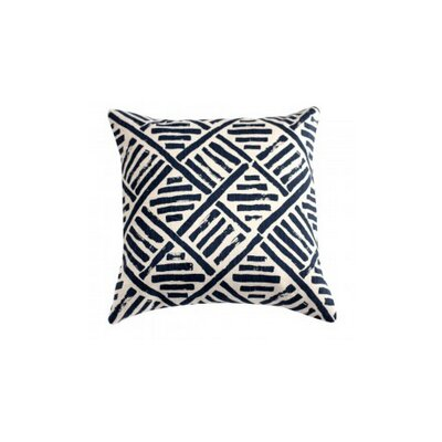 Down Brush Stroke Throw Pillow Color: Ink Blue