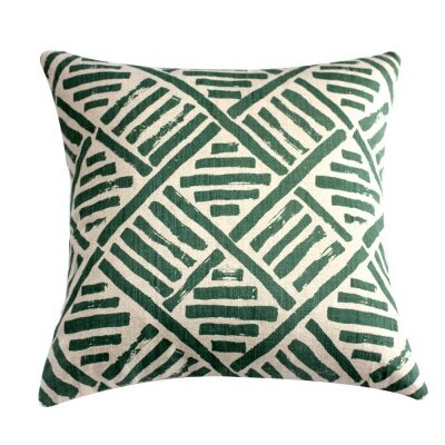 Down Brush Stroke Throw Pillow Color: Olive Green
