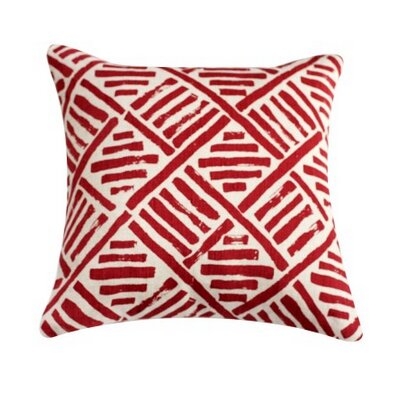 Linen Throw Pillow Color: Flame Red