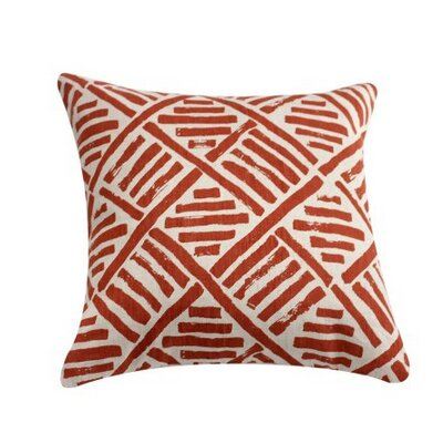 Linen Throw Pillow Color: Coral Orange