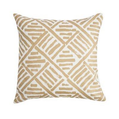 Linen Throw Pillow Color: Gold